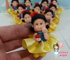 Mini personagem Festa Branca de Neve
