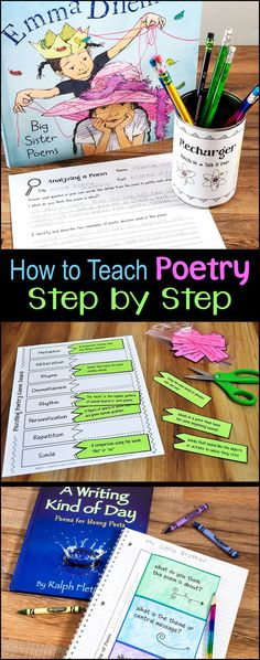 How to Teach Poetry Step by Step outlines an entire poetry unit for upper elementary students from beginning to end. This webinar recording is included in Laura Candler's Poetry Unit Bundle. Teaching Poetry is easy when you have the right tools!