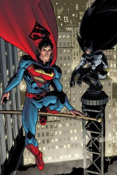 DC Comics has revealed this image of Cully Hamner's variant cover for Action Comics # 11 featuring Superman and a certain World's Greatest Detective. ACTION COMICS Written by GRANT […] Dc Comics Heroes, Arte Dc Comics, Dc Comics Art, Marvel Comics, Batman Vs Superman, Superman News, Comic Book Characters, Comic Character, Comic Books Art