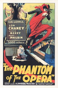 Lon Chaney, Norman Kerry, and Mary Philbin in The Phantom of the Opera