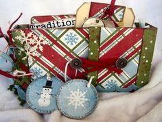 Traditions Mini Album - Scrapbook.com - Beautiful colors and design in this mini album. #scrapbooking #minialbums #holidays