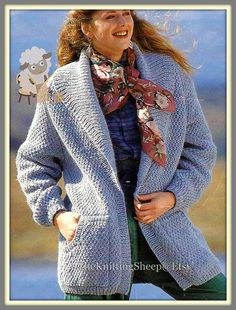 PDF Knitting Pattern  Ladies Easy Knit Chunky by TheKnittingSheep