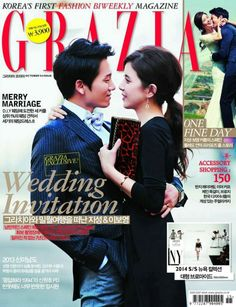 Ji Sung and Lee Bo Young - Grazia Magazine October Issue '13