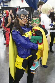 Mom and son cosplay