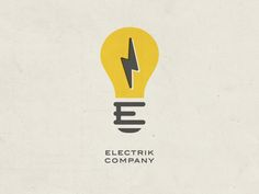 This is another really cool vintage logo. I like how the E is cleverly placed in the bottom of the lightbulb.