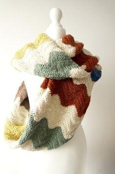 Zig Zag Infinity Scarf Crochet pattern by Little Doolally   Crochet Patterns   LoveCrochet