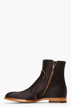 MAISON MARTIN MARGIELA Black Classic Satin Boots | Essentials (men's accessories), visit http://www.pinterest.com/davidos193/