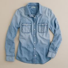 Keeper chambray shirt ❤ liked on Polyvore