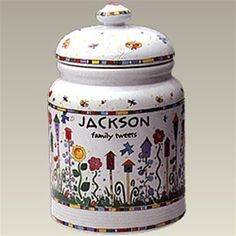 Kathy Davis Family Tweets Personalized Cookie Jar- love it! Come get one for your family at paigesplace.com!