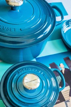 Le Creuset Colors: Deep Teal. 🌈 Which hue is at the top of your wish list this year? 📸: Instagram @splendid_rags Le Creuset Colors, Deep Teal, Garden Hose, Hue, Shopping, Instagram