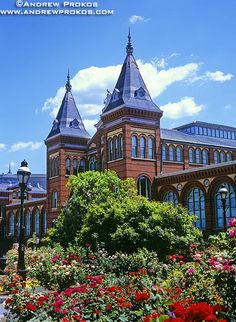 Smithsonian Museum Arts and Industries Building and Rose Garden - http://andrewprokos.com