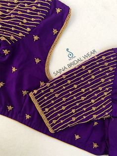 Price : Rs INR Sizes available : . To get your outfit customized visit us at Chennai, Vadapalani or call/msg us at for appointments, online order and further details . Hand Work Blouse Design, Simple Blouse Designs, Stylish Blouse Design, Pattu Saree Blouse Designs, Blouse Designs Silk, Designer Blouse Patterns, Maggam Work Designs, Sleeve Designs, Chennai