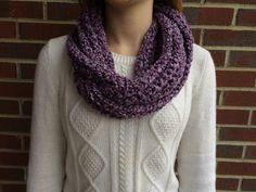 Crochet Infinity Scarf in purple by BurkartDesigns on Etsy