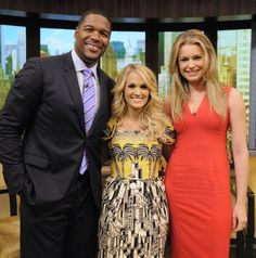 Michael Strahan, Carrie Underwood And Rebecca Romijn | GRAMMY.com