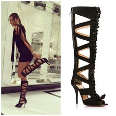 Elisabetta Gregoraci wearing O Jour boots from SS14 Collection