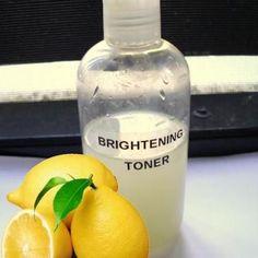 Skin Brightening Toner DIY {Facials}