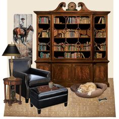 """Home Library"" by lunachick on Polyvore"