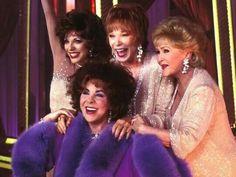 Joan Collins, Elizabeth Taylor, Shirley Maclaine and Debbie Reynolds.