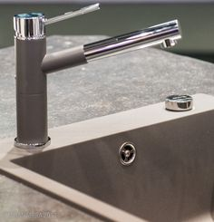 I LOVE the combination of finishes that coordinate on BLANCO's faucets and sinks. The finish on the faucet is soft, smooth and very sensual. It's quiet and elegant-it's my favorite BLANCO faucet-it just speaks to me.