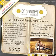 2011 Mini Session Info