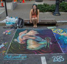 My Sidewalk Chalk art from this weekend - Imgur