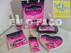 Limousine Rosa - Brindes e Lembrancinhas: Kit Manicure e Maquiagem Limousine Rosa