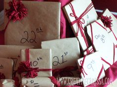 Our Brown Paper Packages Advent Tree ~ Creative Green Living