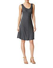 Petite Chevron Striped A-Line Dress