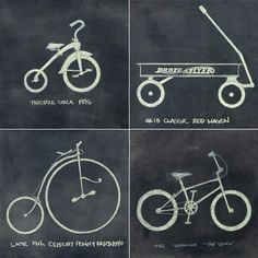 Cool idea and to make it modern add a razor scooter and a balance bike. Trike-a-thon ideas