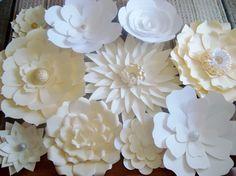 BRICOLAJE papel flor de telón de fondo pared de flores de
