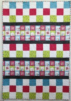 Miss Kittys Colors Check Me Out Quilt Kit