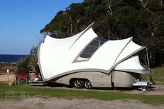 A very interesting camper design! Would like to see an off road version.