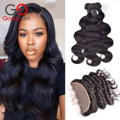 Indian Virgin Hair With Closure Body Wave Lace Frontal Closure With Bundles,Lace Frontals With Baby Hair And Bundles Gossip Girl