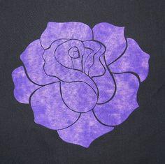 Elegant Rose Quilting Applique Pattern Design by HumburgCreations
