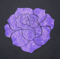 Elegant Rose Quilting Applique Pattern Design by QuiltingSupport, $5.99