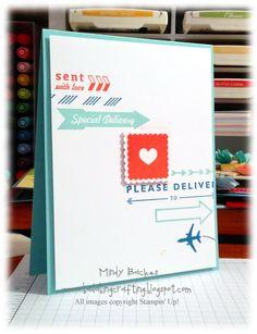 Sent with Love Kit, Photopolymer Designer Stamp set