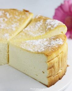 Sernik wiedeński , 1 Desserts For A Crowd, Cute Desserts, Cookie Desserts, Cookie Recipes, Dessert Recipes, Polish Desserts, Polish Recipes, Cheesecake, Cream Cheese Desserts