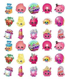 Lovely EDIBLE IMAGE 30 SHOPKINS CUPCAKE U0026 CAKE TOPPERS