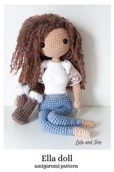 Amigurumi Doll Body Pattern, Crochet Mini Amigurumi Doll, Little ... | 353x235