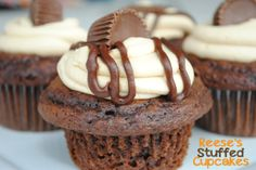Peanut Butter Cookie Dough Cupcakes - Crazy Little Projects
