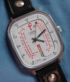 The interior red numbers are for easily determining heart r. The interior red numbers are for easily determining heart r… Slava Medical Watch. The interior red numbers are for easily determining heart rate. Mens Sport Watches, Luxury Watches For Men, Silver Pocket Watch, Beautiful Watches, Vintage Watches, Cool Watches, Fashion Watches, Rolex, Heart Rate