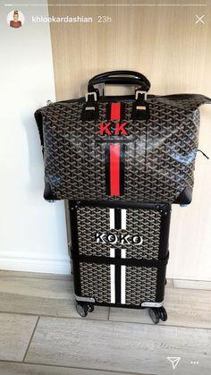 The Kardashians Take Tokyo! See Kim, Kourtney and Khloé's Photos from Their Trip to Japan Louis Vuitton Luggage Set, Goyard Luggage, Goyard Handbags, Goyard Bag, Familia Kardashian, Khloe Kardashian, Luxury Purses, Luxury Bags, Die Kardashians