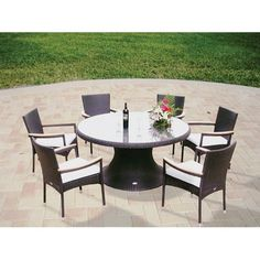 Have to have it. Royal Teak 60 in. Helena Stacking Patio Dining Set - Seats 6 - $2366 @hayneedle.com