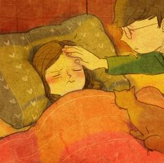 puuung love is Illustration Photo, Couple Illustration, Illustrations, Cute Couple Art, Cute Couples, Puuung Love Is, Sketch Manga, Poses References, Cute Love Cartoons