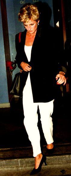 1993.....white pants, white top, black blazer