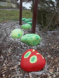 Hungry Caterpillar | Garden stones Want this for the school landscape or courtyard!