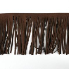Quastenborte & Fransenband - 1 m Lederfransen / braun - ein Designerstück von treuepfand-DIY bei DaWanda
