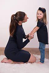 Šaty - Tmavomodré šaty - 9090299_  #detskamoda#jedinecnesaty#handmade#originalne#slovakia#slovenskydizajn#móda#šaty#original#fashion#dress#modre#ornamental#stripe#dresses#vyrobenenaslovensku#children#fashion#rucnemalovane