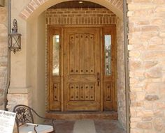Knotty Alder Rustic Entry Door 36 x 80 2 Panel Square Top with V Grooved Panels and Speakeasy with Exterior Wrought Iron Grills Entry Door With Sidelights, Arched Doors, Knotty Alder Doors, Double Doors Exterior, Fire Doors, Front Entry, Front Porch, Wood Doors, Home Improvement Projects