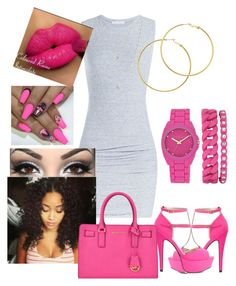 Untitled #34 by raeluvv on Polyvore featuring polyvore, fashion, style, James Perse, Charlotte Russe, MICHAEL Michael Kors, Anne Klein, Melissa Odabash, Jennifer Zeuner and clothing